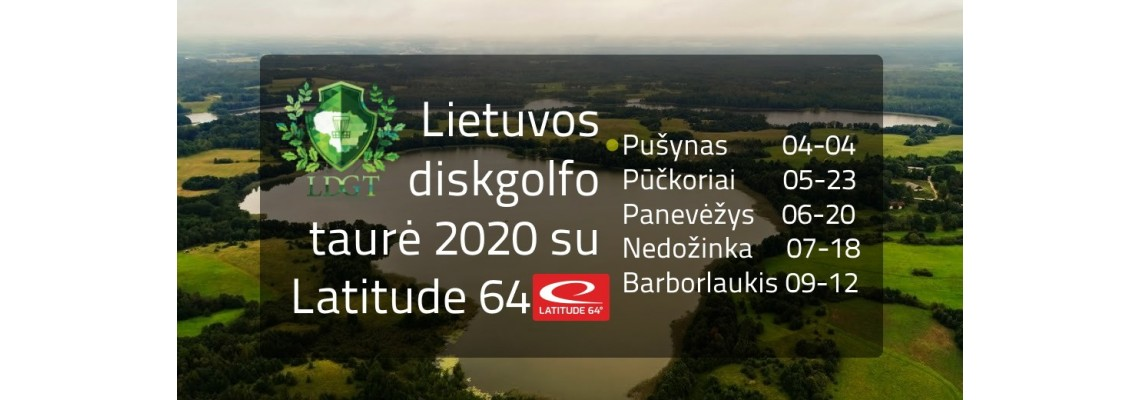 Lithuanian Disc Golf Cup 2020 sponsored by LATITUDE 64, First stage - Pušynas